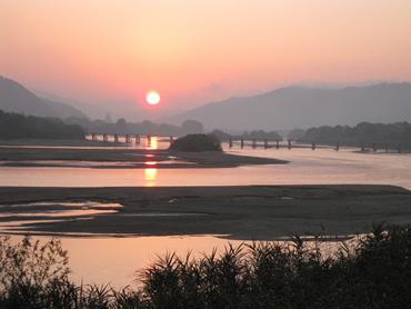 斐伊川 山田橋を望む